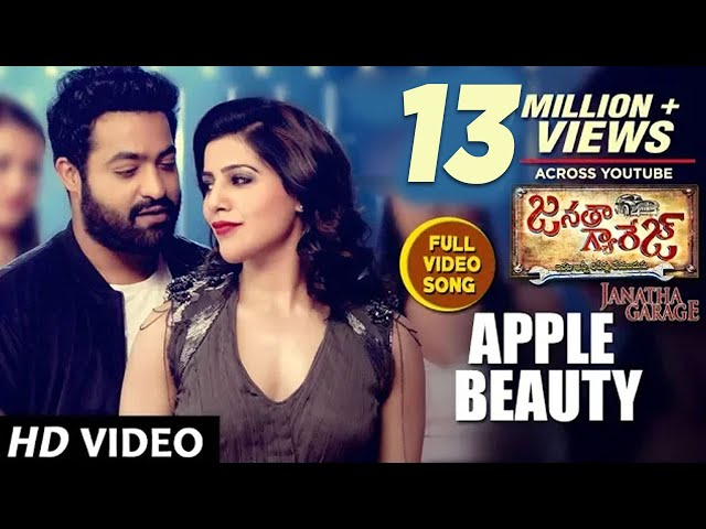 Apple Beauty Full HD Video Song | Janatha Garage Movie Songs | NTR | Samantha