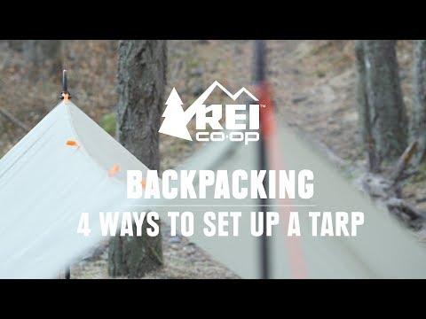 4 Ways to Set Up an Ultralight Tarp Shelter || REI