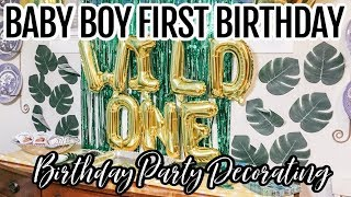 1st bday theme boy