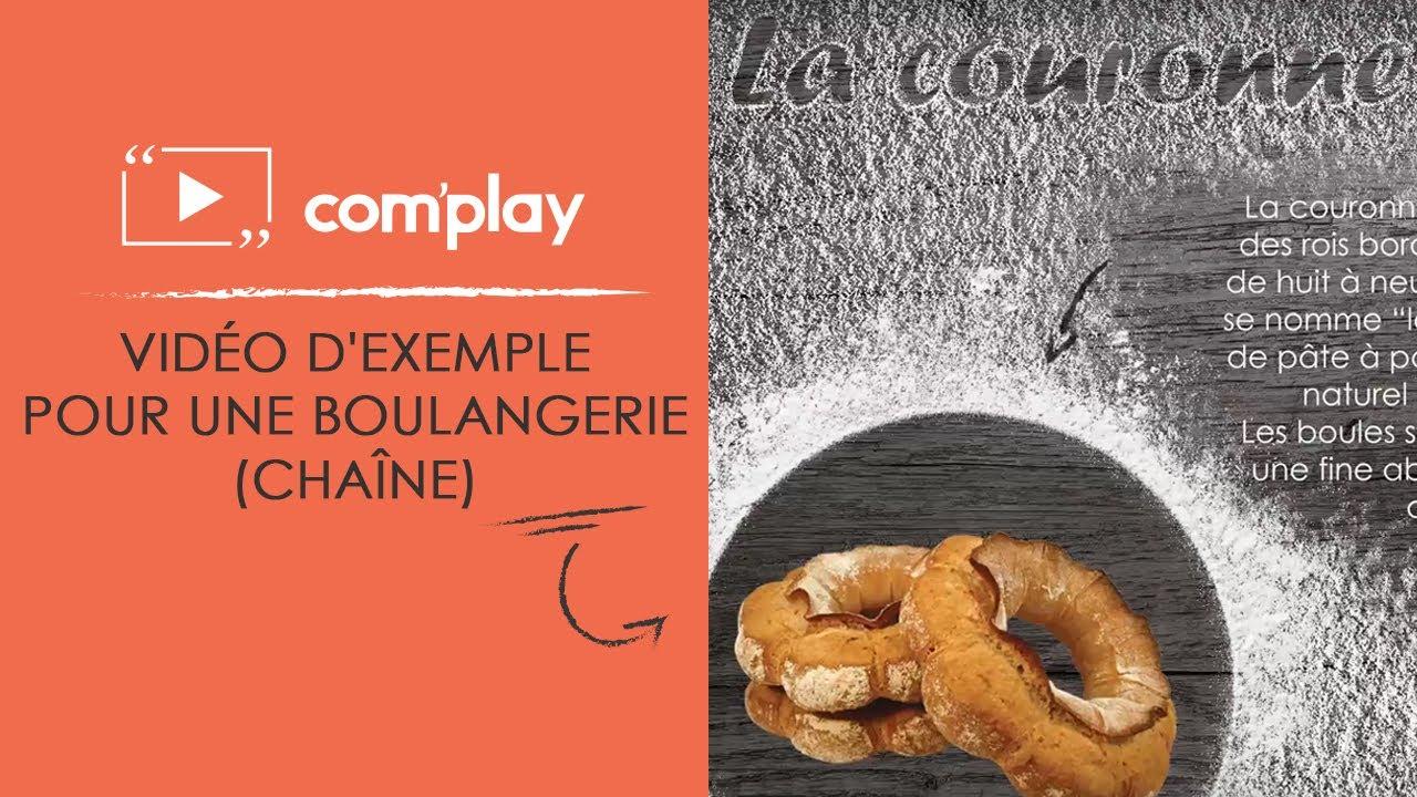 Image YouTube Affichage dynamique : exemple de diffusion pour une boulangerie (chaîne)