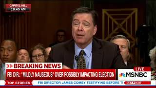 Comey on not considering politics