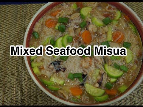 Filipino Tagalog – Seafood Misua Recipe – Pinoy Cooking