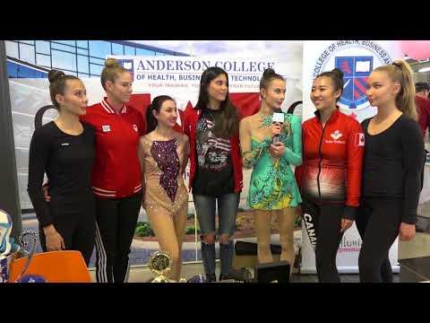 Гала презентация спортивной команды девушек-гимнасток в Торонто