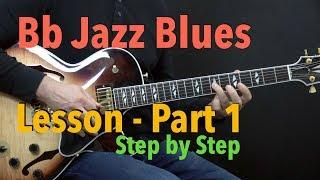 Download Bb Jazz Blues - Easy Jazz Guitar Lesson by Achim Kohl