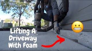 Concrete Lifting   How To Lift A Sinking Driveway