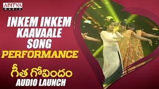 Inkem Inkem Inkem Kaavaale Song Performance @ Geetha Govindam Audio Launch