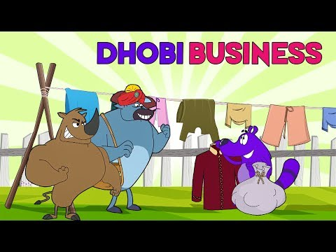 Dhobi Business Ep - 101 - Pyaar Mohabbat Happy Lucky - Funny Hindi Cartoon Show - Zee Kids