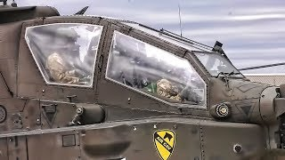 Apache Attack Helicopters Takeoff • 1st Air Cav
