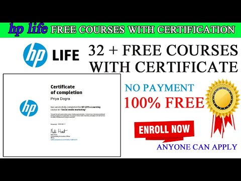 32+ Free Courses & Certificates from HP LIFE - YouTube