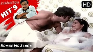 Ambarish And Jayamala Romantic Scene In Bathroom | Prema Mathsara Kannada Movie