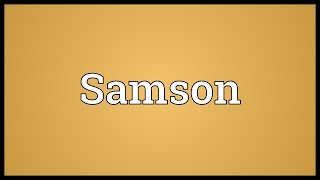 Samson Meaning