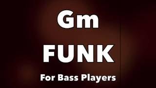 Funk Bass Backing Track (Gm)