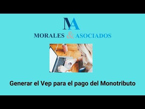 Generacion de vep para pago Monotributo