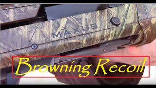 Browning maxus recoil