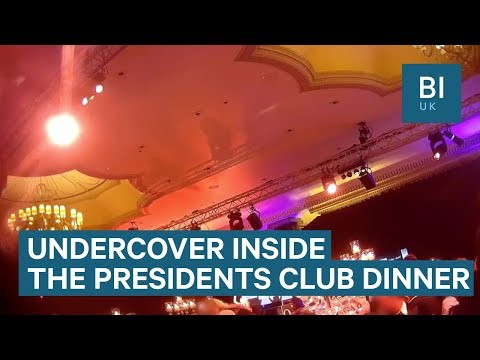 Undercover footage from inside secretive Presidents Club Charity Dinner