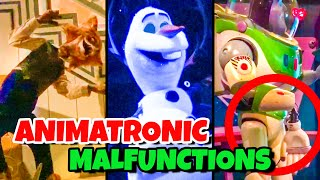 Top 10 Disney Fails & Animatronic Malfunctions Pt 9