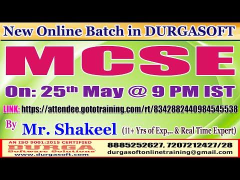MCSE Online Training @ DURGASOFT - YouTube