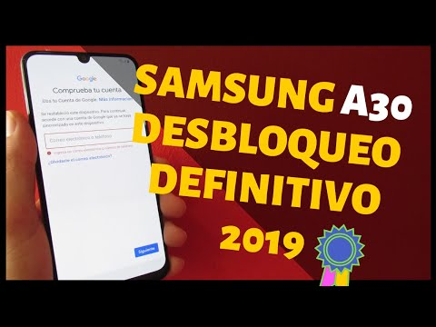 Quitar Cuenta Google en Samsung a30   SM-A305G, SM-A30F, SM-A305G-/DS