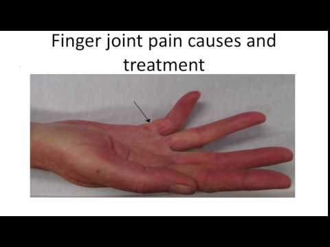 Video Finger joint pain causes and treatment