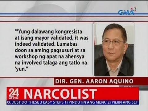 [GMA]  24 Oras: Dalawang kongresista at isang alkalde, na-validate na raw ng PDEA na sangkot sa droga