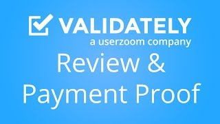 Validately Tester Review and Payment Proof