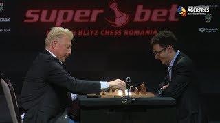 Şah: Boris Becker a deschis Superbet Chess cu o partidă demonstrativă contra americanului Fabiano Caruana