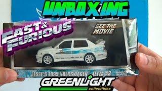 UNBOXING - VOLKSWAGEN JETTA A3 1995 FAST & FURIOUS - RAPIDO Y FURIOSO GREENLIGHT
