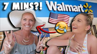MUM vs teenage DAUGHTER - 7 MINUTE WALMART CHALLENGE!! * wtf is the results* 😂😭