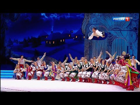מופע ריקוד מלהיב וקצבי לריקוד עם אוקראיני מסורתי