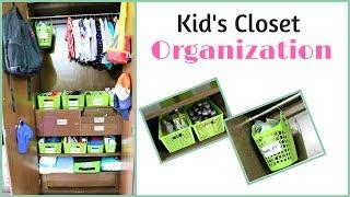 Kids Closet Organization - Toddler Closet Tour