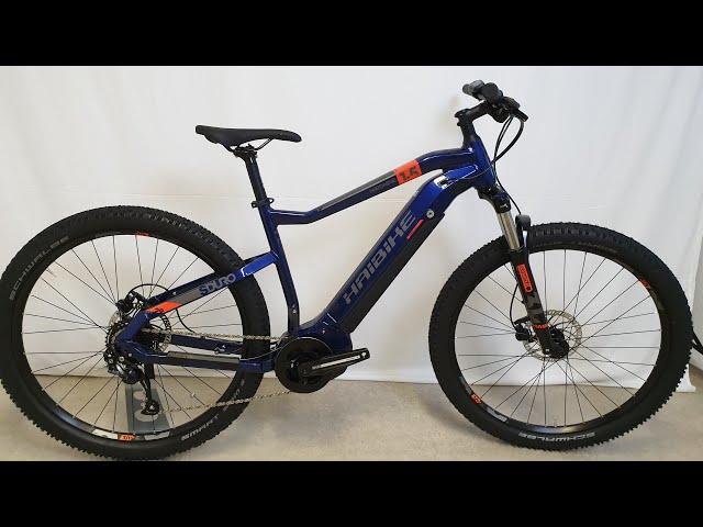 Видео Электровелосипед Haibike SDURO HardNine 1.5 i400Wh сине-оранжево-серый
