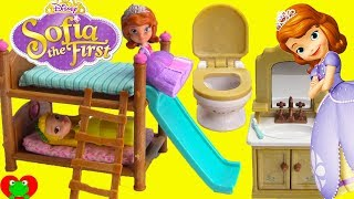 Disney Princess Sofia the First and Amber Bedtime Routine and Bunk Beds