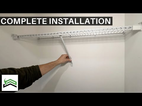 Rubbermaid White Wire Shelf Install - Easy Step By Step Installation