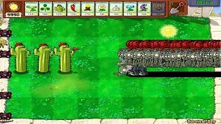 1 Cactus Pea vs 9999 Balloon Zombie Plants vs Zombies