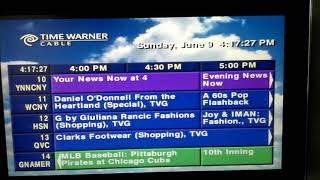 Time Warner Cable Zap2it TV Listings 06-09-2013