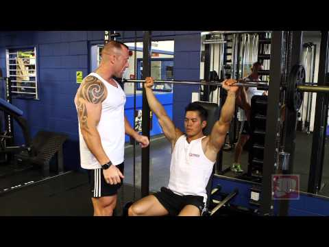 Seated Smith Machine Shoulder Press