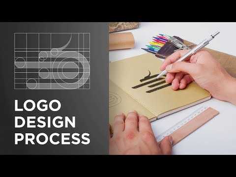 logo design tutorial starting from scratch till finish by mohamed achraf