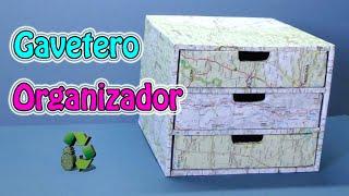 Como Hacer Gavetero Organizador (Reciclaje) Ecobrisa.