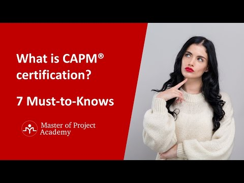 CAPM Certification 7 Must-to-Know Points - What is CAPM ...