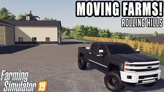MOVING OUR FARM TO MIDWEST! | ROLLING HILLS MAP | #16 | FARMING SIMULATOR 2019