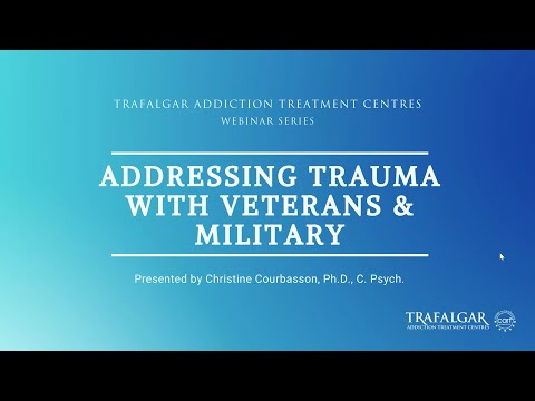 The cover picture for the video of Addressing Trauma with Veterans & Military webinar.