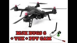 MJX BUGS 6 (DROCON) UPGRADE, MONTAGGIO VTX AND FPV CAM WITH ROCCO CON SOLI 15€!! (2/3)