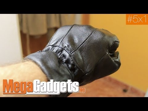 Guantes de piel táctiles para móviles