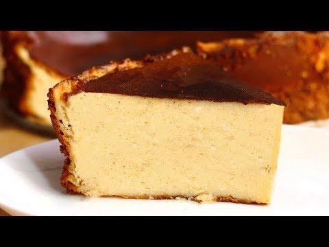 La tarta de queso al horno más FÁCIL de hacer del MUNDO