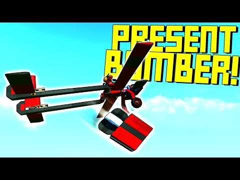 Delivering Presents By Bomber Plane!  No Time For Stops - Scrap Mechanic Multiplayer Monday
