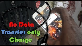 Phone connected to PC by USB  for data transfer but only charges Fix
