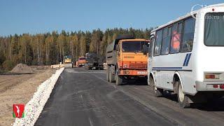 В деревне Якимец Гусь-Хрустального района продолжается строительство новой дороги