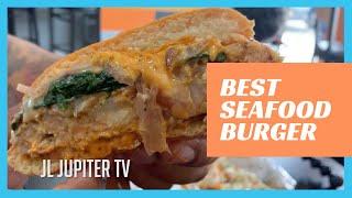 The Best Seafood Burger Ive Ever Had. Burger Bar Camden, NJ [JL Jupiter TV]