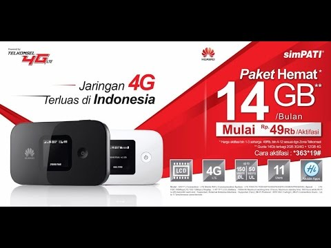 Video UNBOXING Mifi Router HUAWEI E5577 Telkomsel PAHE & Cara Pemakaian, Aktivasi Paket Telkomsel 14GB