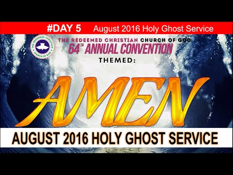 """AUGUST 2016- RCCG HOLY GHOST SERVICE """"Amen"""""""